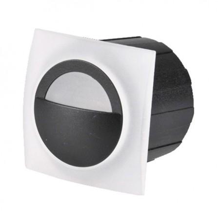 Χωνευτό Φωτιστικό Απλίκα LED για τοίχο ή σκάλα 3W 4000K (ΦΩΣ ΗΜΕΡΑΣ) 300Lm IP65 μαύρο