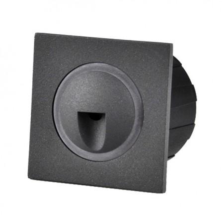 Χωνευτό Φωτιστικό Απλίκα LED για τοίχο ή σκάλα 3W 4000K (ΦΩΣ ΗΜΕΡΑΣ) 300Lm IP65 μαύρο RD06