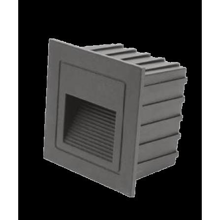 Χωνευτό Φωτιστικό Απλίκα LED για τοίχο ή σκάλα 2W 4000K (ΦΩΣ ΗΜΕΡΑΣ) 160Lm σε μαύρο χρώμα