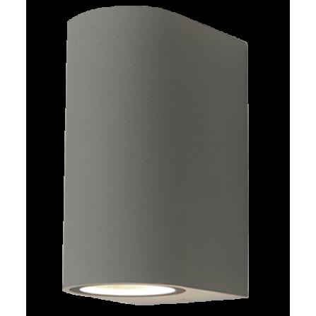 Απλίκα τοίχου εξωτερικού χώρου για 2 λάμπες GU10 IP44 από αλουμίνιο γκρι γραφίτη