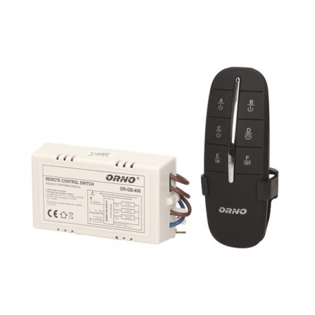 Ασύρματο χειριστήριο ελέγχου φωτισμού 3 καναλιών max.1000w σε μαύρο χρώμα  ORNO