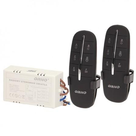 Σετ controller & 2 ασύρματα χειριστήρια ελέγχου φωτισμού 3 καναλιών max.1000w σε μαύρο χρώμα ORNO