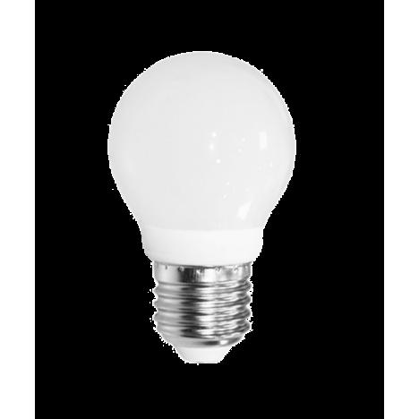Λάμπα LED σφαιρική E27 3W 3000K (ΘΕΡΜΟ) G45 300o 200Lm