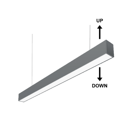 Κρεμαστό φωτιστικό γραμμικό LED UP/DOWN 48W 4000K (ΦΩΣ ΗΜΕΡΑΣ) 120cm 4320Lm TWIST II