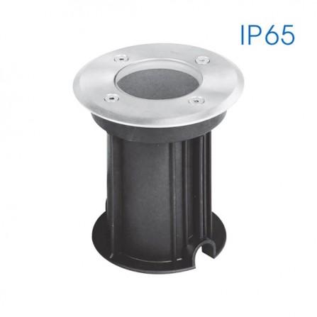Χωνευτό Φωτιστικό Στεγανό δαπέδου GU10 IP65 ΝΙΚΕΛ ΜΑΤ ORADEA
