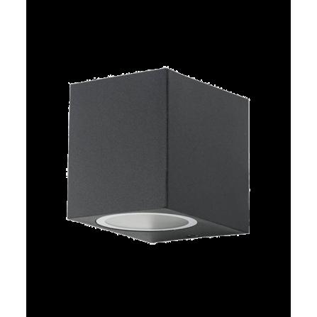 Απλίκα τοίχου εξωτερικού χώρου για 1 λάμπα GU10 IP44 από αλουμίνιο μαύρη