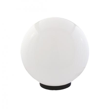 Φωτιστικό μπάλα πλαστική λευκή οπάλ με γρίφα και ντουί Ε27 IP43 Φ200mm 230V