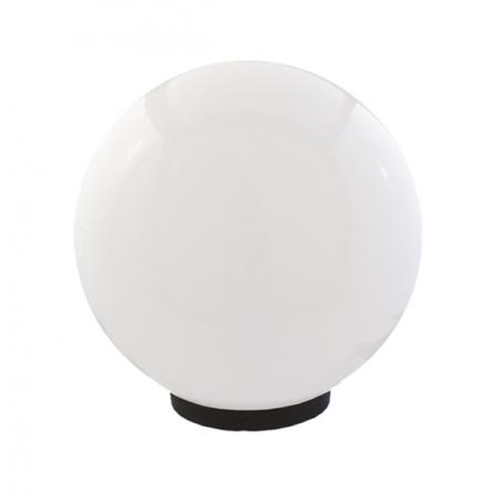 Φωτιστικό μπάλα πλαστική λευκή οπάλ με γρίφα και ντουί Ε27 IP43 Φ250mm 230V