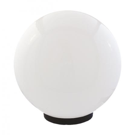 Φωτιστικό μπάλα πλαστική λευκή οπάλ με γρίφα και ντουί Ε27 IP43 Φ300mm 230V