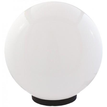 Φωτιστικό μπάλα πλαστική λευκή οπάλ με γρίφα και ντουί Ε27 IP43 Φ400mm 230V