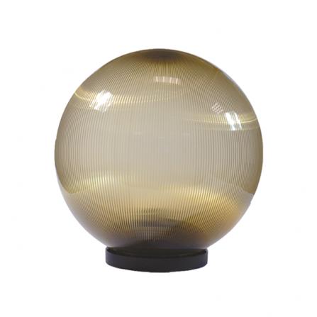 Φωτιστικό μπάλα πλαστική φιμέ με γρίφα και ντουί Ε27 IP43 Φ200mm 230V
