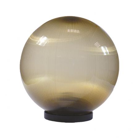 Φωτιστικό μπάλα πλαστική φιμέ με γρίφα και ντουί Ε27 IP43 Φ250mm 230V
