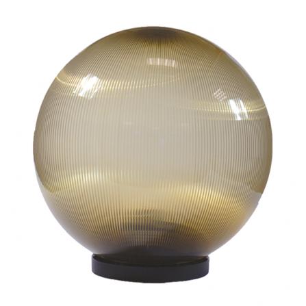 Φωτιστικό μπάλα πλαστική φιμέ με γρίφα και ντουί Ε27 IP43 Φ300mm 230V