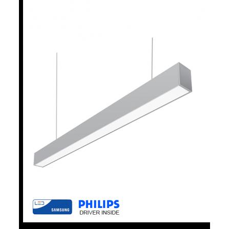 Γραμμικό φωτιστικό LED SAMSUNG CHIP 66W 4000K (ΦΩΣ ΗΜΕΡΑΣ) 200cm INOX MAT 8344Lm