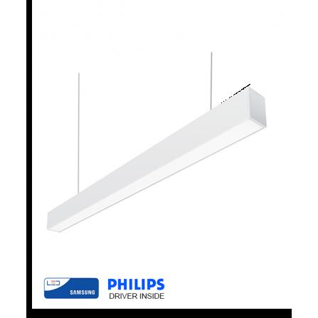 Γραμμικό φωτιστικό LED SAMSUNG CHIP 40W 4000K (ΦΩΣ ΗΜΕΡΑΣ) 120cm ΛΕΥΚΟ 5066Lm