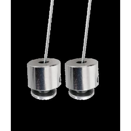 Σετ ανάρτησης για γραμμικά φωτιστικά LED ERITHOS μαύρο
