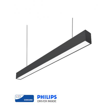 Γραμμικό φωτιστικό LED SAMSUNG CHIP 40W 4000K (ΦΩΣ ΗΜΕΡΑΣ) 120cm ΜΑΥΡΟ 5066Lm