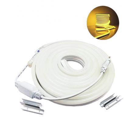 Σετ LED NEON 10m 12W/m 120chips/m 2835 3000K (ΘΕΡΜΟ) 700Lm/m IP65 230V