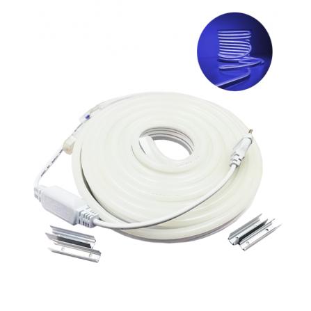 Σετ LED NEON 10m 12W/m 120chips/m 2835 ΜΠΛΕ 700Lm/m IP65 230V