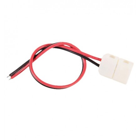 Απλός σύνδεσμος για ταινία LED 3528 ή 2835 8mm με καλώδιο