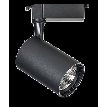 Σποτ Ράγας LED 20W 4000K (ΦΩΣ ΗΜΕΡΑΣ) 24ο 1250Lm 2 καλωδίων μονοφασικό μαύρο