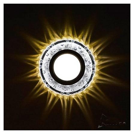 Γυάλινο σποτ οροφής στρόγγυλο χωνευτό διπλού φωτισμού 3W 4000K (ΦΩΣ ΗΜΕΡΑΣ) & MR16 LIGHTEX