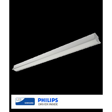 Χωνευτό γραμμικό φωτιστικό οροφής LED SAMSUNG CHIP 30W 4000K (ΦΩΣ ΗΜΕΡΑΣ) 113cm ΓΚΡΙ 4180Lm