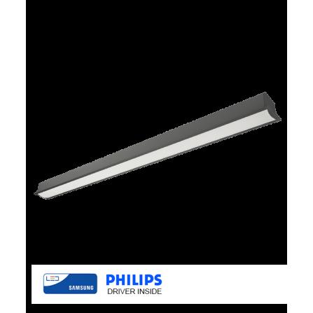 Χωνευτό γραμμικό φωτιστικό οροφής LED SAMSUNG CHIP 38W 4000K (ΦΩΣ ΗΜΕΡΑΣ) 141cm ΜΑΥΡΟ 5244Lm