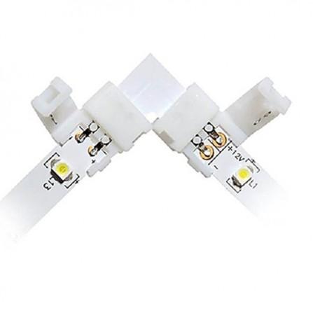Γωνιακός σύνδεσμος για ταινία LED μονόχρωμη 12V, chip 3528-8mm