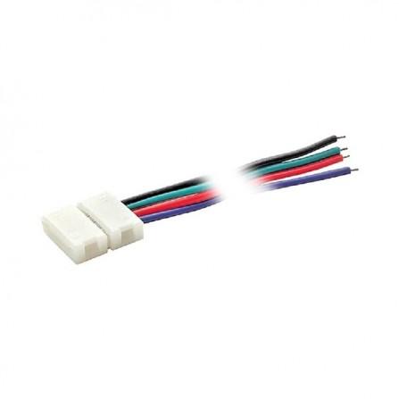 Απλός σύνδεσμος για ταινία LED RGB 5050 10mm με καλώδιο