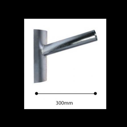 Μεταλλικός βραχίονας Φ60 γαλβανισμένος για τοποθέτηση σε ιστό