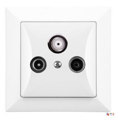 Πρίζα TV-FM-SAT Τερματική Λευκή TIMEX