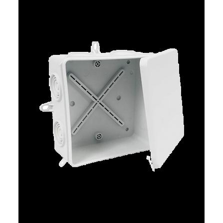Κουτί διακλάδωσης εξωτερικό 105x105x40mm στεγανό IP65 με τάπες και πατούρα για βίδωμα