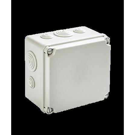 Κουτί διακλάδωσης εξωτερικό 175x151x95mm στεγανό IP54 με τάπες και πλαστικές βίδες