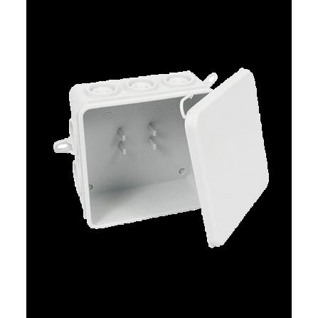 Κουτί διακλάδωσης εξωτερικό 85x85x40mm στεγανό IP65 με τάπες και πατούρα για βίδωμα
