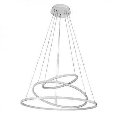 Κρεμαστό Φωτιστικό LED 135W με 3 Δακτύλιους σε 4000K (ΦΩΣ ΗΜΕΡΑΣ) λευκό LIGHTEX