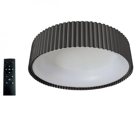 Πλαφονιέρα LED Οροφής 42W 3000K-4000Κ-6000K 3CCT DIMMABLE με τηλεχειριστήριο ΣΤΡΟΓΓΥΛH μαύρη Φ460mm TANIA