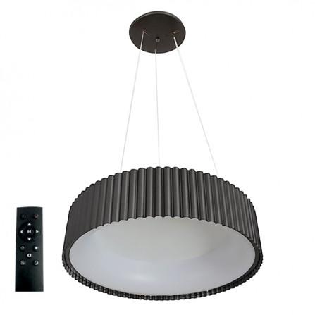 Κρεμαστό Φωτιστικό LED 42W 3000K-4000Κ-6000K 3CCT DIMMABLE με τηλεχειριστήριο ΣΤΡΟΓΓΥΛH μαύρη Φ460mm TANIA VITO