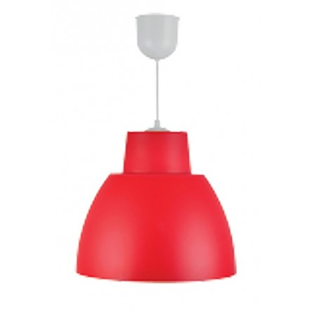 Κρεμαστο Φωτιστικό Πλαστικό Μονόφωτο Ε27 κόκκινο BITEZ